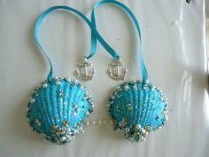 DIY mermaid shell bra, perhaps over a bandeau