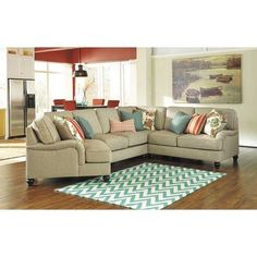 picture of 4pc with laf cuddler sectional