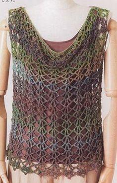 Simple crochet vest
