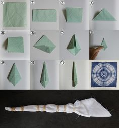 How to make a dyeing. 10 Shibori Swatches - Step 7