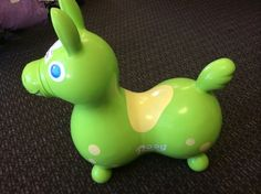 Rody Horse Toy - Lime Green - Rody hippity hop ride-on Horse! Made of super strong latex free vinyl, inflatable to adjust for the weight of child. A fun toy for ages 2-4. Great for developing balance and coordination skills. #rodyhorse #kidstoys  Click the link below to see more of the great merchandise available at Lily Pads! - $28.50 | LilyPads - Lincoln , NE