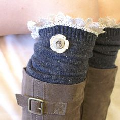 Cute knee socks. I would actually wear the crap out of these.