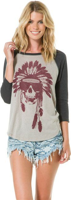 BILLABONG WARRIOR ADVENTURE BASEBALL TEE