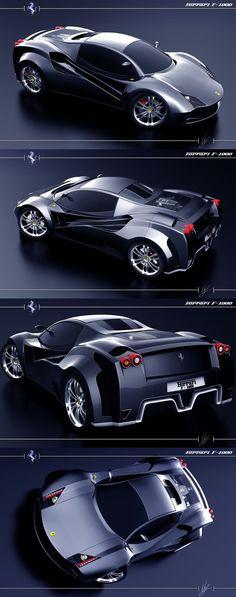 Ferrari F-1000 Concept car verdadero carruaje del demonio, este no necesita una pista, si no un aeropuerto