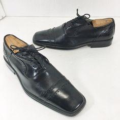 Stacy Adams Mens Size 9.5 Black Dress Oxford Shoes  #StacyAdams #Oxfords