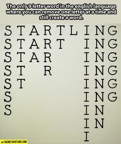 The most interesting word in the English language...