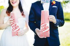 Michaels.com Wedding Department: Whimsy Carnival Wedding Popcorn Bags Your guests will love this tasty treat! Decorate bags to coordinate with your wedding theme.