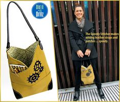 Free pattern and tutorial. Canvas Slim Bag with Elbow Patch Corners: Did it with Dritz | Sew4Home