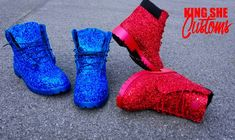 Items similar to Custom Glitter Timberlands on Etsy Denim Timberland Boots, Timberland Waterproof Boots, Glitter Timberlands, Yellow Boots, Shoe Company, Crystal Brooch, Hunter Boots, Leather Boots, Rubber Rain Boots