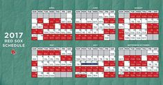 2017 Red Sox schedule