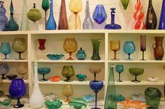 Glassware from Palm Springs vintage shops
