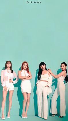 Moonbyul, Solar, Wheein e Hwasa Kpop Girl Groups, Korean Girl Groups, Kpop Girls, Fandom, My Girl, Cool Girl, Wheein Mamamoo, Solar Mamamoo, Rapper