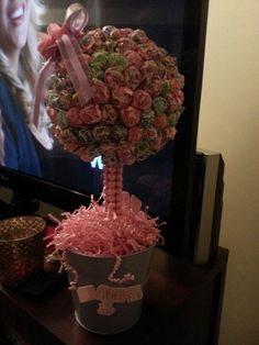 Candyland theme baby shower centerpieces