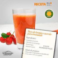 Suco de laranja e acerola para imunidade