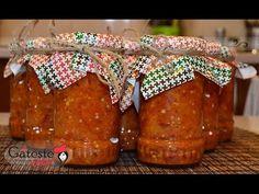 Reteta de Zacusca de Vinete European Dishes, Preserves, Salsa, Jar, Canning, Sauces, Food, Youtube, Preserve