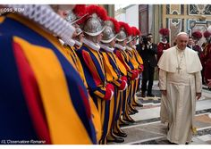 "#PopeFrancis tells Swiss Guards they have a ""significant"" friendship 
