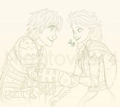 Hiccup and elsa