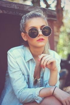 Óculos redondo  3 Oculos De Sol, Armações De Óculos, Curtidas 09e0a10d95