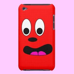 Funny Red Crazy Face iPod Case-Mate Cases