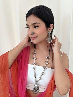 Designer Party Wear Dresses, Indian Wedding Jewelry, Beatnik, Brass Necklace, Handmade Jewelry Designs, Oxidized Silver, Best Friend Quotes, Necklace Online, Look Alike