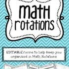If you're a fan of Math Rotations, this packet is for you! EDITABLE Math Rotations Plans- simply add text boxes to fill in lesson plans, group choices, students' names, and more!