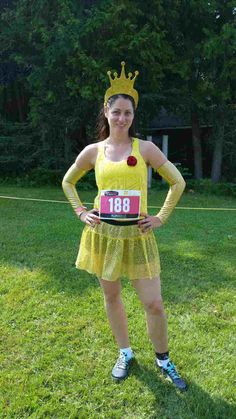Princess Belle mud run costume. Skirt and sleeves from Sparkle Athletic.