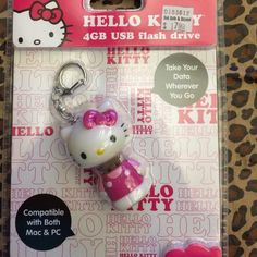 Hello Kitty Flash Drive Keychain 4GB USB flash drive/keychain combo. Hello Kitty Other