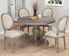 Rustic round dining table | Doll up Your Dining Room | Pinterest ...