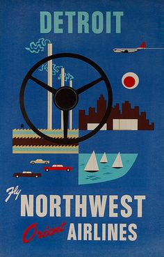 Fly Northwest Airlines to Detroit