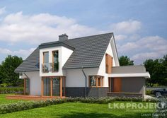 LK&931 mały dom w stylu nowoczesnym. Powierzchnia uzytkowa 120.69 m2 http://lk-projekt.pl/lkand931-produkt-1624.html