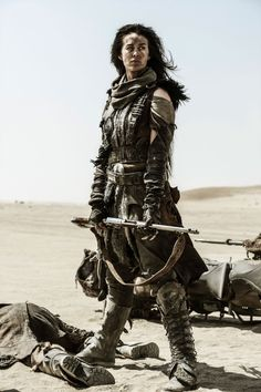 """steegeschnoeber: """"primary-elements: """"Megan Gale as The Valkyrie. Mad Max: Fury Road."""" M """""""