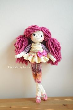 Crochet Doll 17 long Ready to ship. by LinaMarieDolls on Etsy #amigurumi #dollamigurumi