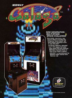 Classic Ads: Galaga the sequel to Galaxian, released in 1979.