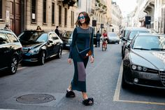 Milan Fashion Week — The Locals – Street Style from Copenhagen and elsewhere Jumpsuit Dress, Knit Dress, Cool Style, My Style, Milan Fashion Weeks, Looks Cool, Cool Outfits, Street Style, Style Inspiration