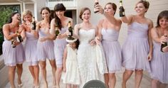 Lavender dresses for the bridesmaid - just no alcohol Lilac Wedding Colors, Popular Wedding Colors, Purple Wedding, Dream Wedding, J Crew Bridesmaid Dresses, Lavender Bridesmaid Dresses, Wedding Dresses, Wedding Attire, Wedding Images