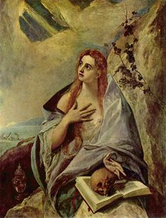 Mary Magdalene as a hermit by El Greco