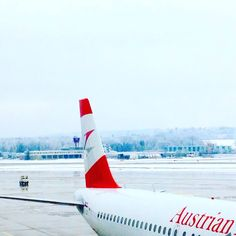 At the Zurich Airport.   #airport #aviation #businesstrip #travel #waiting #white #snow #Winter #austrianairlines #Zurich #switzerland #switzerlandwonderland Austrian Airlines, Jet, Aircraft, Winter, Vehicles, Aviation, Plane, Airplanes, Car