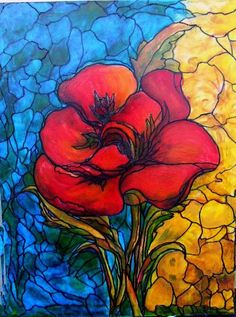 Stained Glass on Canvas by Rae Chichilnitsky