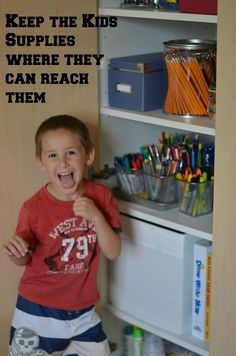 The Organized Homeschool Challenge: Art and Craft Supplies - Only Passionate Curiosity