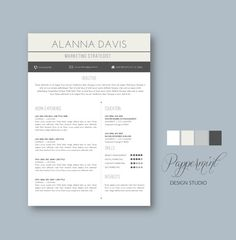 Resume Template with Cover Letter for WORD