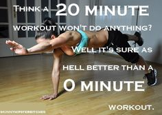 For those days when I only have 20 minutes to spare & think that just 20 minutes doesn't count. It does!