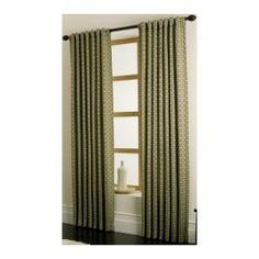 allen   roth�Cornwall 84-in L Solid Sage Back Tab Curtain Panel