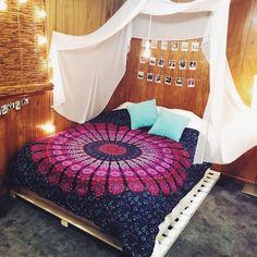 Queen Purple Indian Mandala Throw Tapestry, Dorm Hippie Boho Bedspread on RoyalFurnish.com, $19.47
