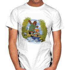 SHERWOOD AWAITS T-Shirt - Robin Hood T-Shirt is $14 today at Ript! Calvin And Hobbes, Robin, Disney, Mens Tops, T Shirt, Fashion, Supreme T Shirt, Moda, Tee Shirt
