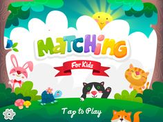 Matching For Kids - New Project by Phich To, via Behance Bg Design, Game Logo Design, Branding Design, Kids Background, Game Interface, Educational Games For Kids, Game Concept, Kids Logo, Holidays With Kids