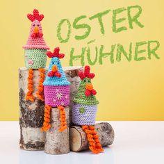 Anleitung: Lustige Osterhühner häkeln - buttinette Blog
