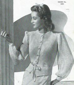 Titania  Bedjacket 1940s by LouisaAmeliaJane on Etsy, $3.00