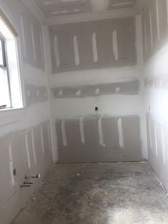 Pantry - a good depth - it will hold another refrigerator and SOOOO many shelves and cabinets! This family will not run out of space. Supply Room, Organizing, Organization, Mudroom, Refrigerator, Storage Spaces, Design Projects, Laundry Room, Pantry