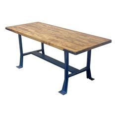 Industrial Blue Painted Table