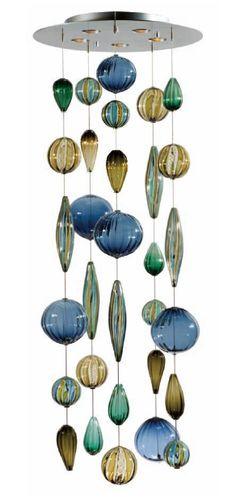 art glass mobile